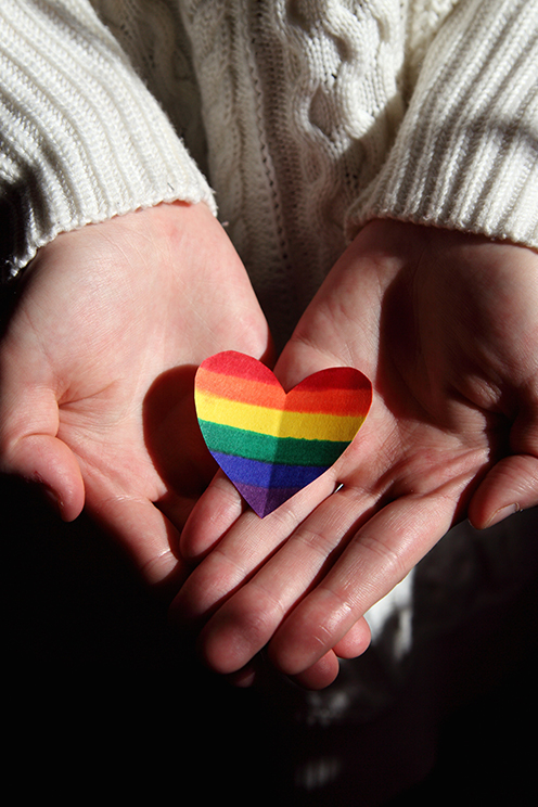 Heart Hands Rainbow