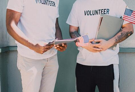 Two Men Volunteering