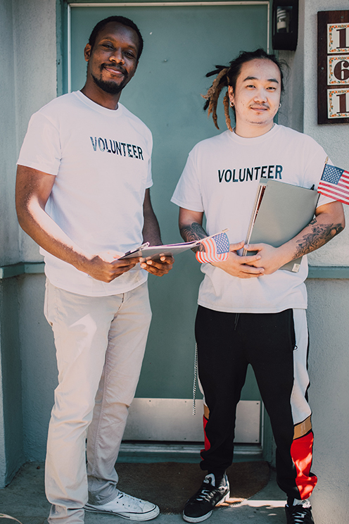 Two Men Volunteering